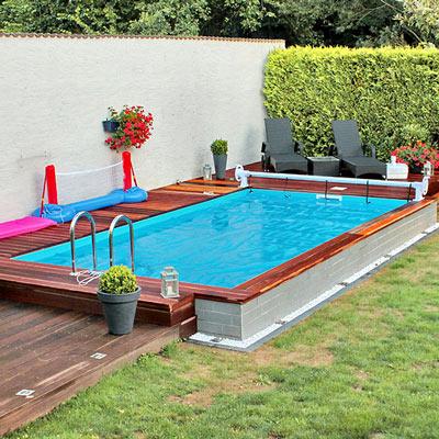 Thermopool Schwimmbecken inkl. Bodenisolierung